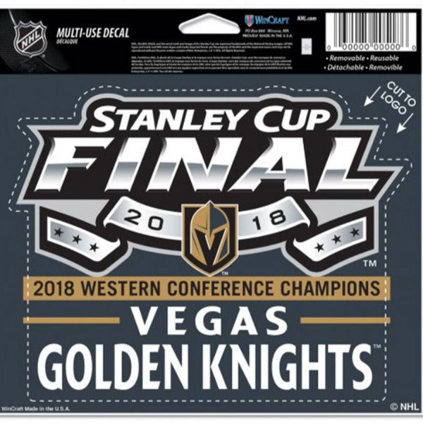 Vegas Golden Knights 2018 Stanley Cup Final Multi-Use Decal - VegasTeamStore