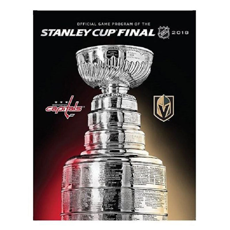 NHL 2018 Stanley Cup Final Washington Capitals vs Vegas Golden Knights Official Game Program - VegasTeamStore