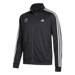 Vegas Golden Knights adidas Mens 3-Stripe Track Jacket - Black - VegasTeamStore