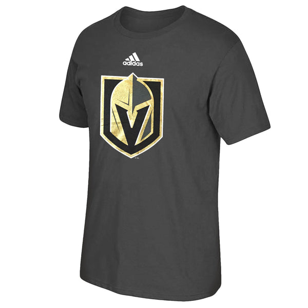 Vegas Golden Knights adidas Mens Primary Logo Tee - Charcoal