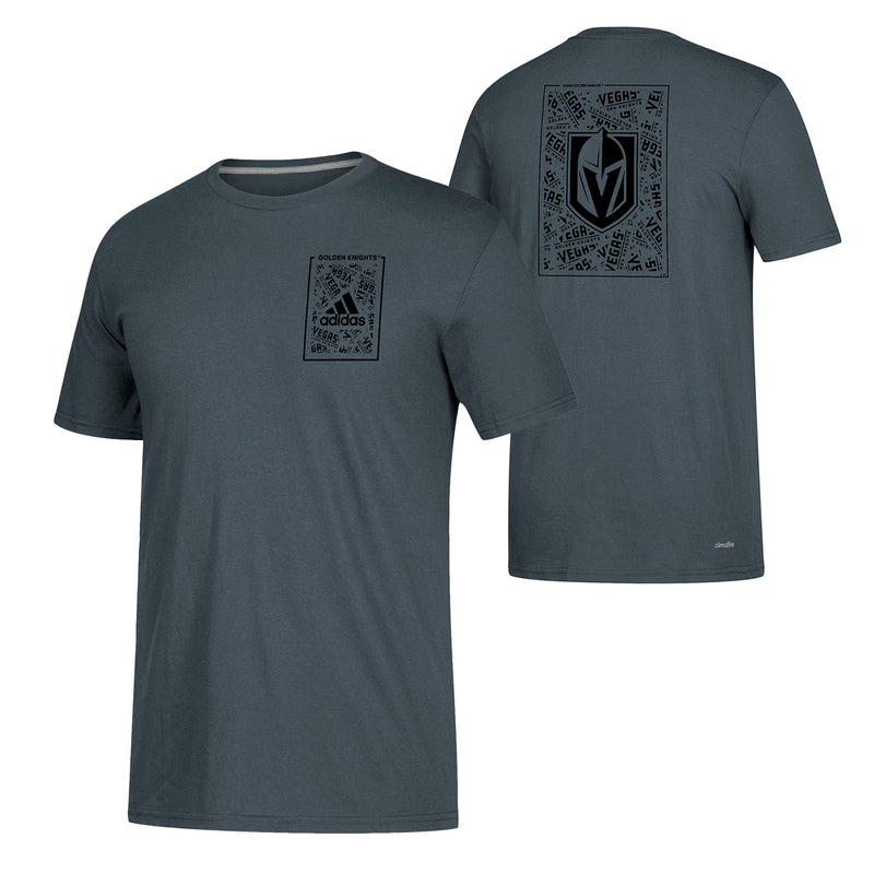 Vegas Golden Knights adidas Climalite Mens Word Up Tee - Steel Gray