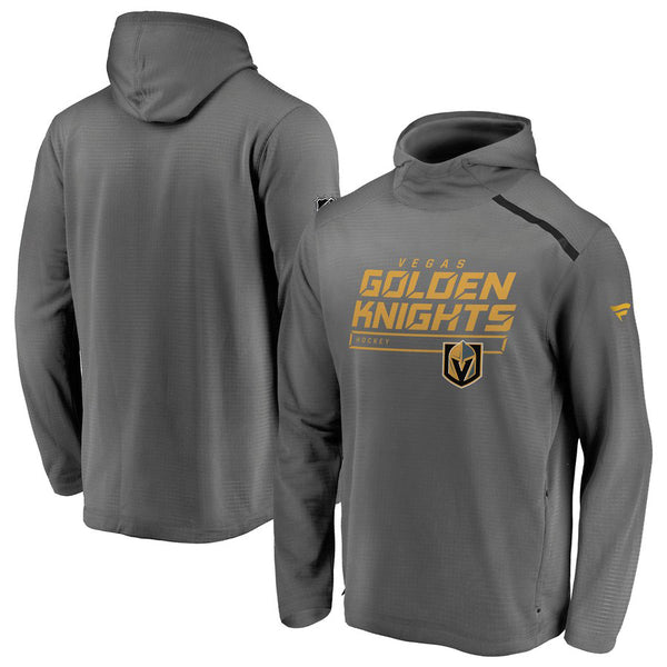 Vegas Golden Knights Fanatics Mens Rinkside Pullover Hoodie - Grey - VegasTeamStore
