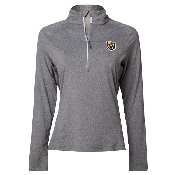 Vegas Golden Knights Levelwear Womens Energy 1/2 Zip Lightweight Jacket - Grey - VegasTeamStore