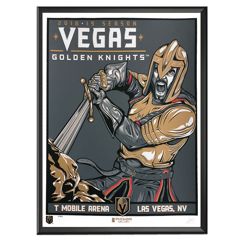 Vegas Golden Knights Phenom Gallery 18x24 Golden Knights 2018-19 Season Serigraph