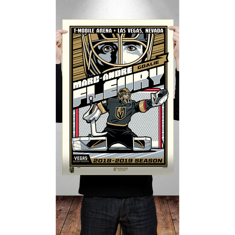 Vegas Golden Knights Phenom Gallery 18x24 Marc-Andre Fleury Serigraph