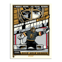 Vegas Golden Knights Phenom Gallery 18x24 Marc-Andre Fleury Serigraph - VegasTeamStore