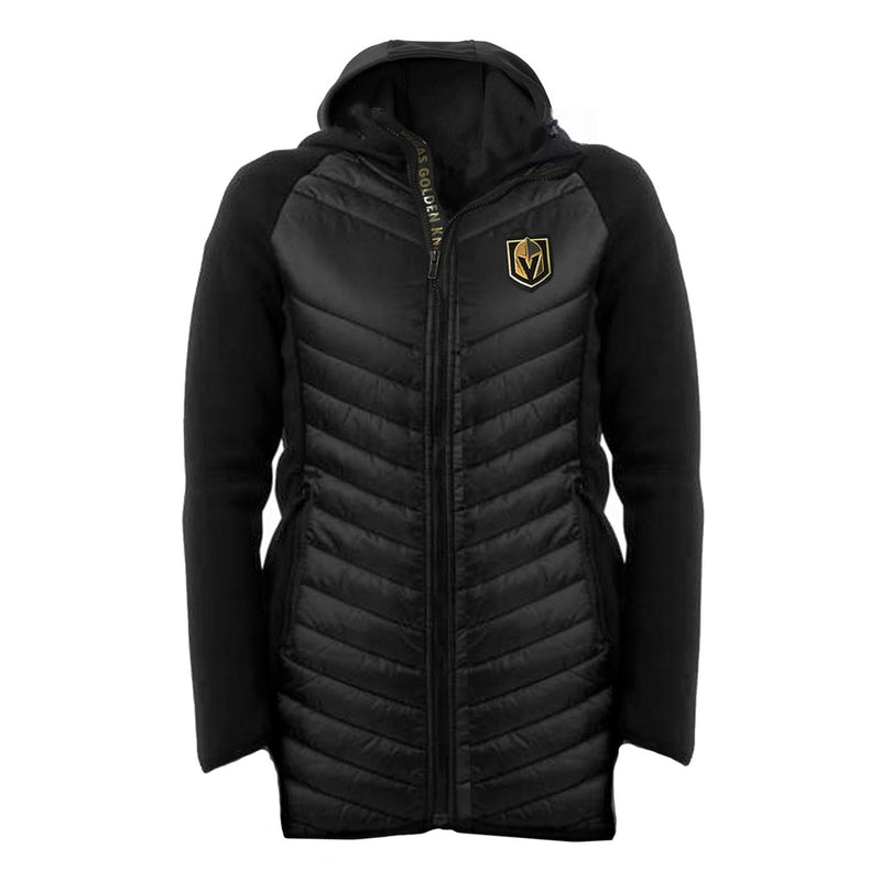 Vegas Golden Knights Levelwear Womens Luna Full Zip Hooded Jacket - Black