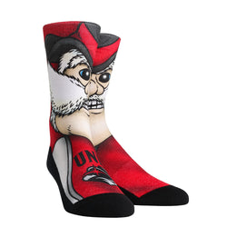 UNLV Rebels Rock Em Split Face Mascot Socks - VegasTeamStore