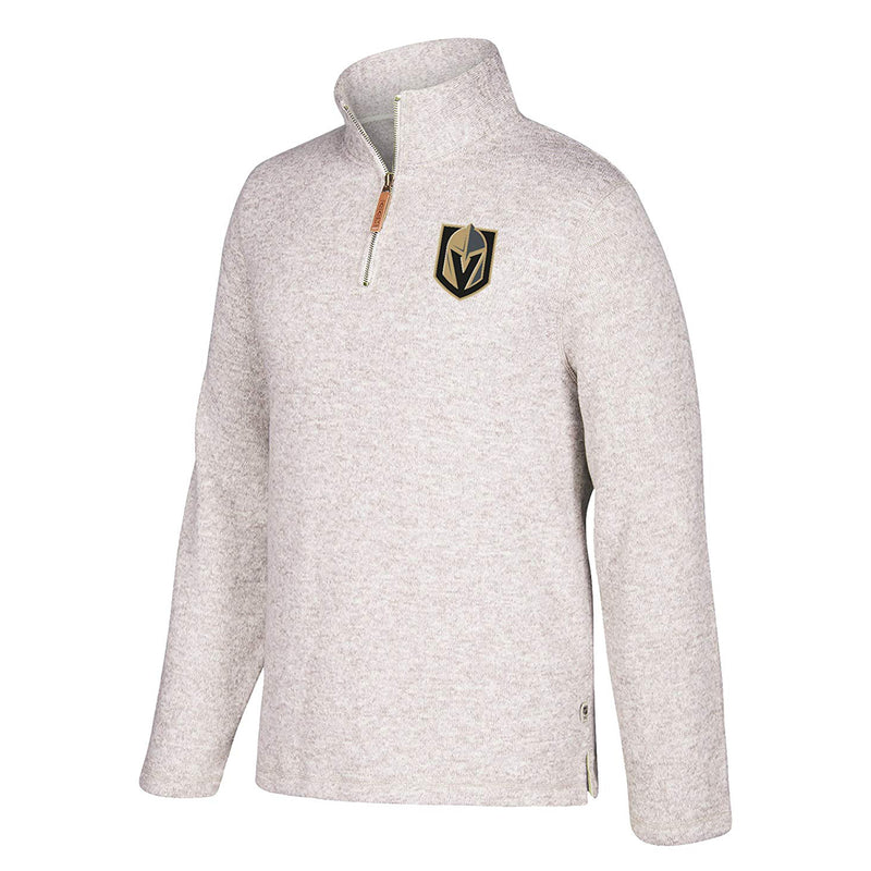 Vegas Golden Knights CCM Mens Set 1/4 Zip Fleece Pullover - Heather - VegasTeamStore