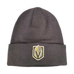 Vegas Golden Knights Raised Primary Cuffed Beanie - Black - VegasTeamStore