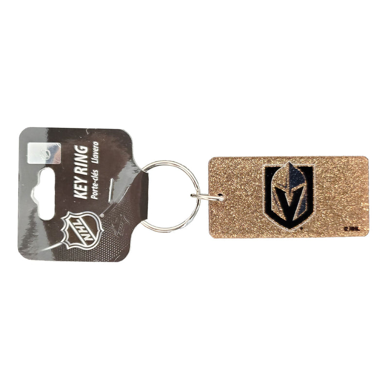 Vegas Golden Knights Rectangle Glitter Keychain - VegasTeamStore