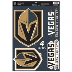 Vegas Golden Knights 11x17 Multi-Use Decal 4-pack - VegasTeamStore
