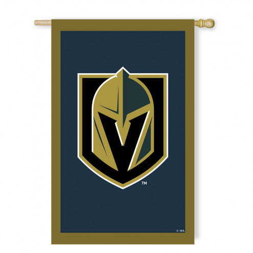 Vegas Golden Knights 2-Sided Applique Flag - VegasTeamStore