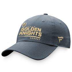Vegas Golden Knights Authentic Pro Locker Room Adjustable Hat-Gray