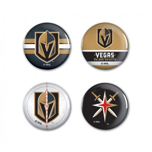 Vegas Golden Knights Button 4-pack - VegasTeamStore