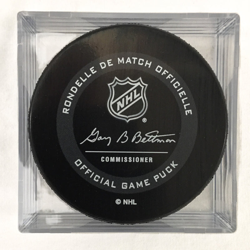 St Patricks Day Official Game Puck In Case - VegasTeamStore