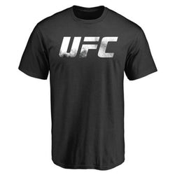 UFC Mens Black Smoke Logo Crew Tee