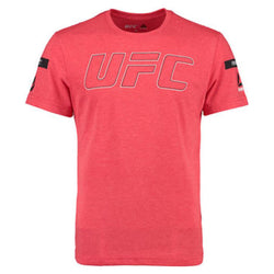 UFC Mens Red UFAN Tri-blend Crew Tee - VegasTeamStore