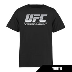 UFC Youth Black Chrome Logo Crew Tee