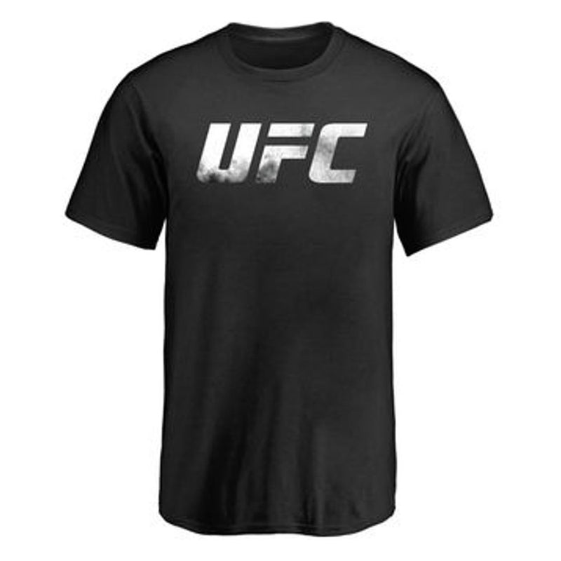 UFC Youth Black Smoke Logo Crew Tee - VegasTeamStore