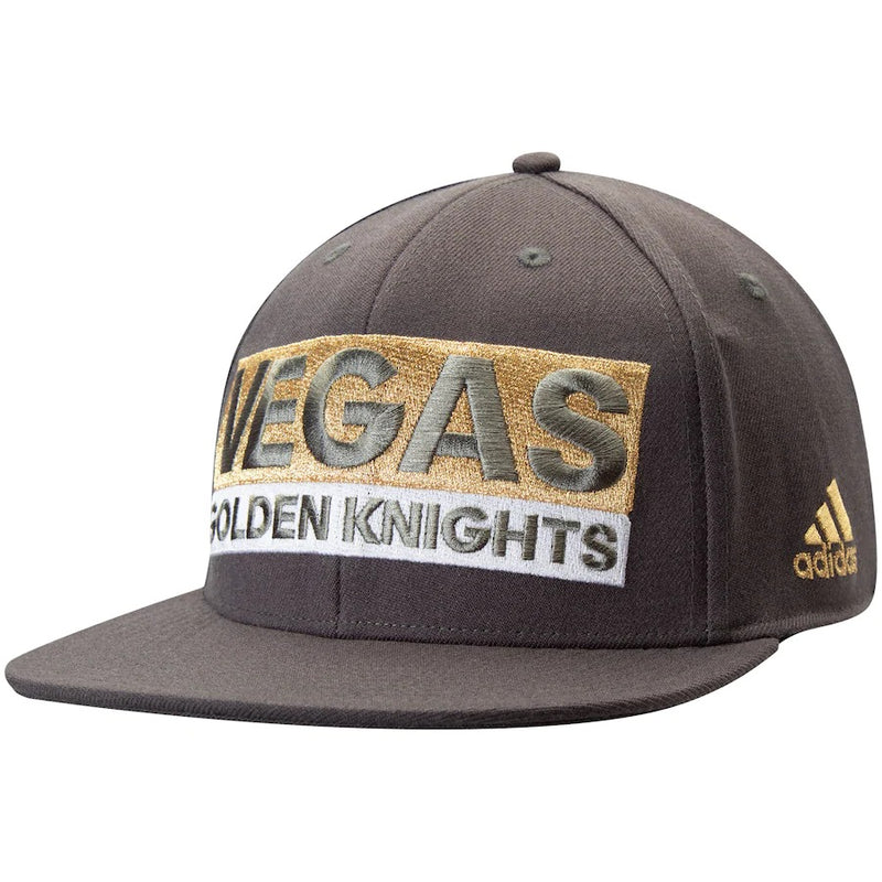 VGK FLAT VISOR CULTURE FLEX FIT HAT - VegasTeamStore