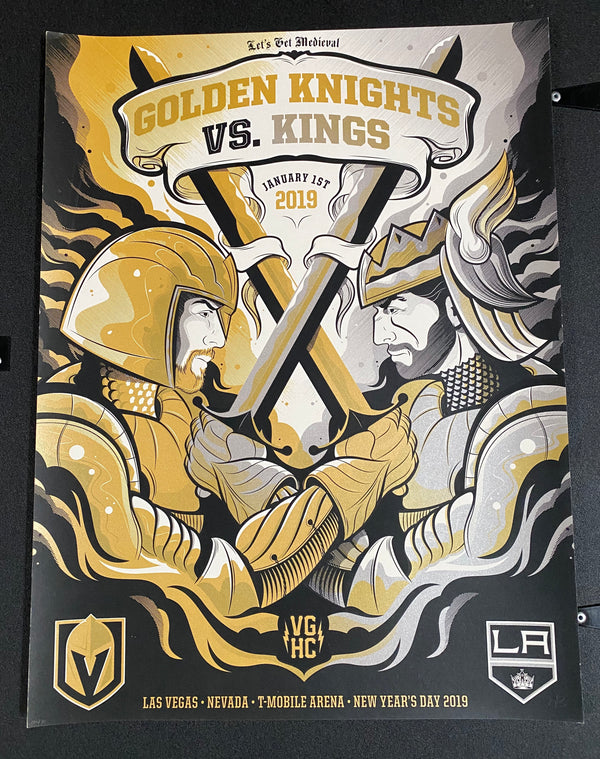 VEGAS GOLDEN KNIGHTS VGK VS LA NEW YEARS SERIGRAPH