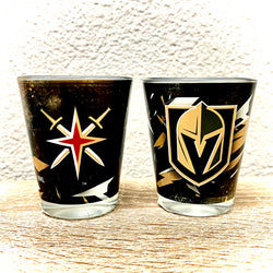 2-Pack VGK Shot Glasses - VegasTeamStore