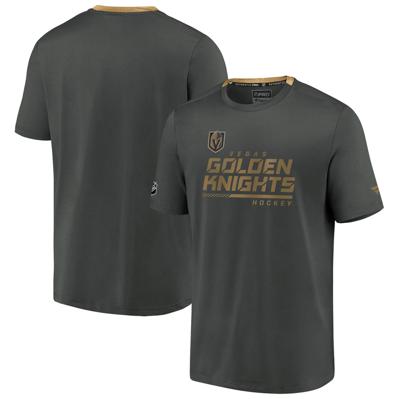 Vegas Golden Knights Mens Authentic Performance T-Shirt – Gray