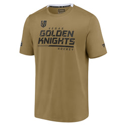 Vegas Golden Knights Mens Authentic Pro Performance T-Shirt – Gold