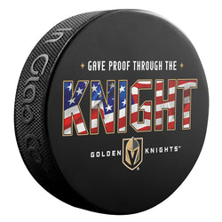 Vegas Golden Knights Anthem Puck - VegasTeamStore