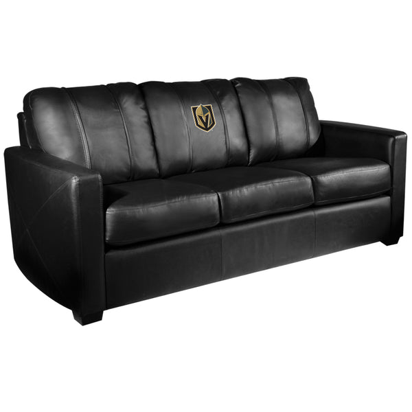 Vegas Golden Knights Dreamseat Primary Logo NHL Silver Sofa