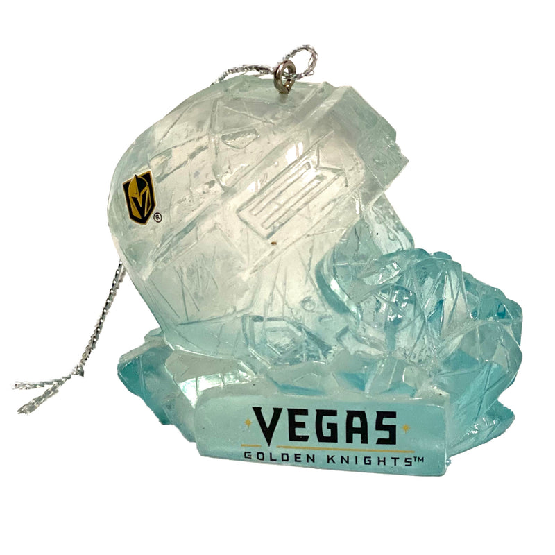 Holiday Ornament Golden Knights Helmet Ice Sculpture