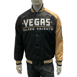 Vegas Golden Knights Starter Mens Playoffs Jacket - Black/Gold