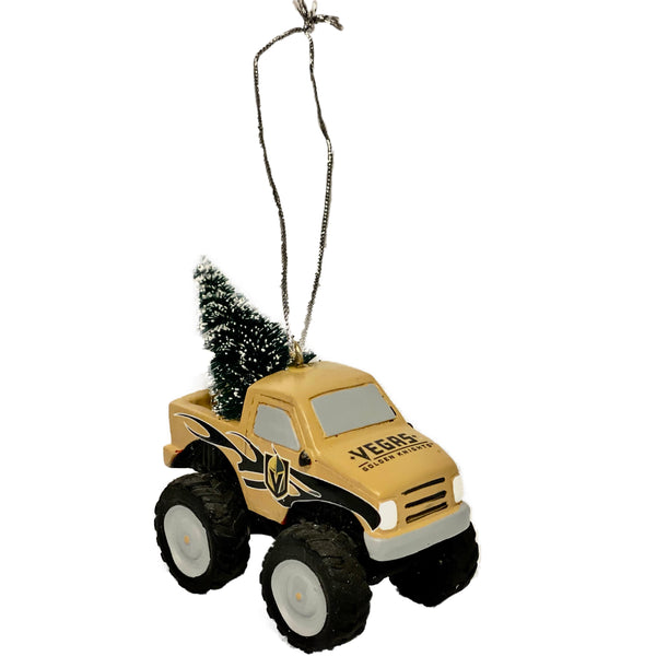 Holiday Ornament Golden Knights Monster Truck