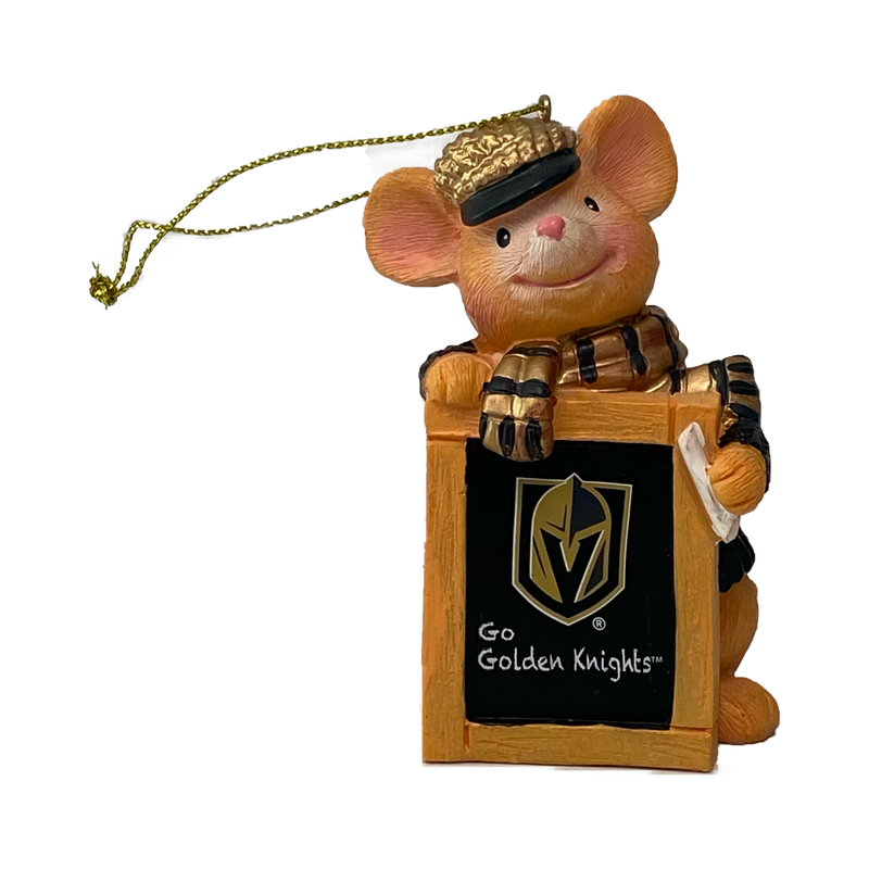 Holiday Ornament Golden Knights Mouse