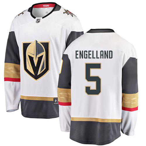 Vegas Golden Knights - Deryk Engelland #5 Premier Youth Jersey - VegasTeamStore