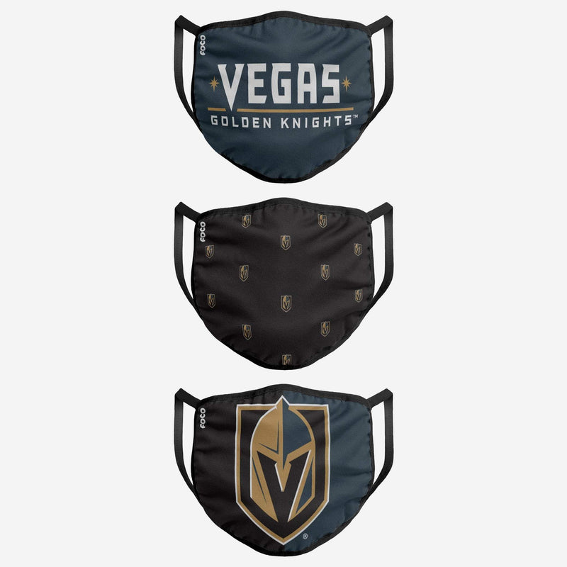 VEGAS GOLDEN KNIGHTS 3 PACK FACE COVER - MASK - VegasTeamStore