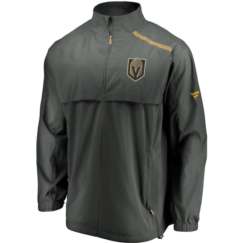Vegas Golden Knights Mens Rinkside Mock Neck Jacket - Grey