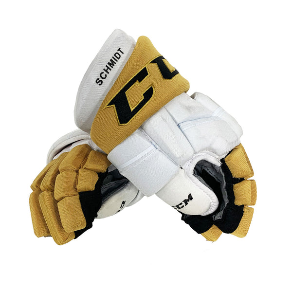 Nate Schmidt Game-Used Away Gloves - Hologram #2798