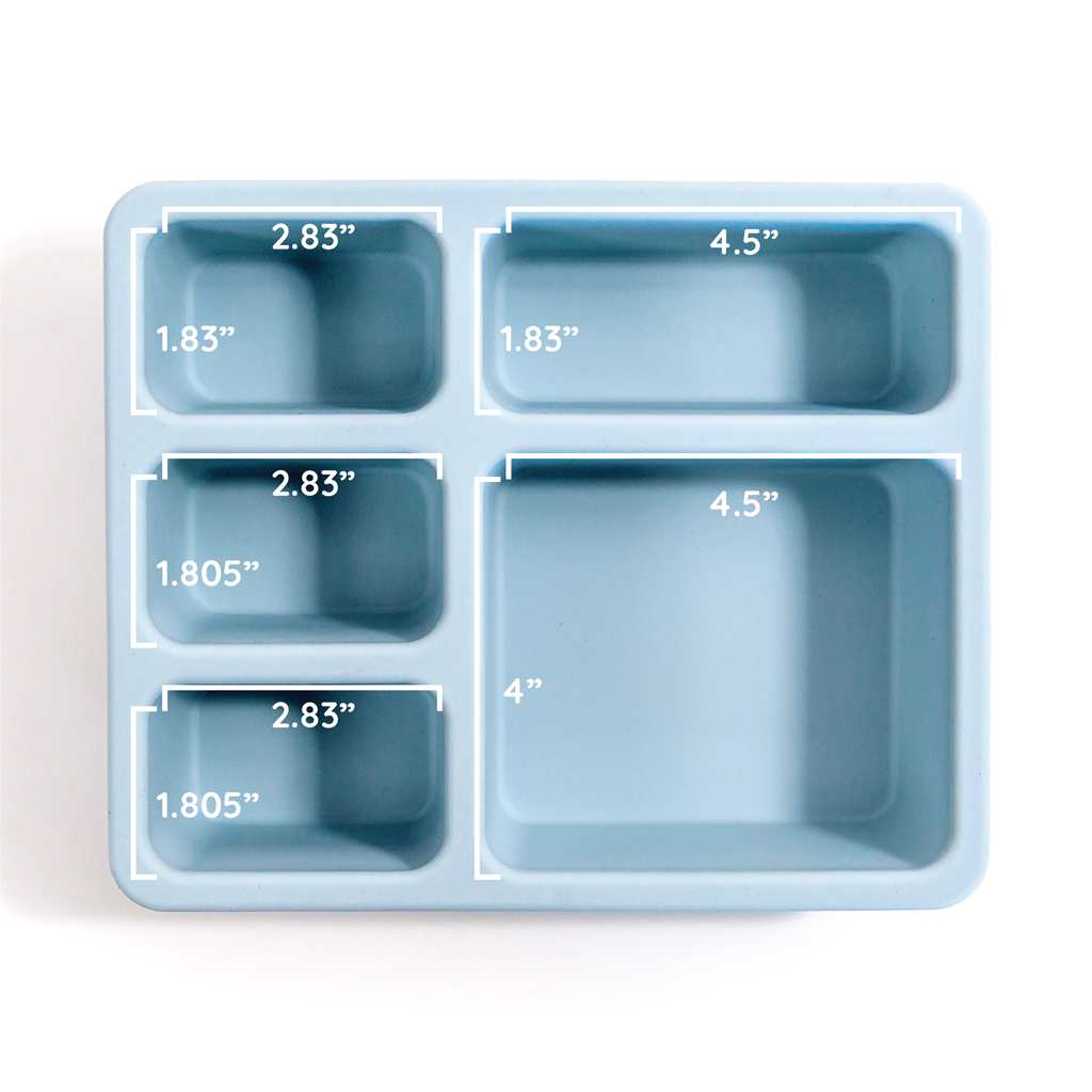Silicone Bento Box Wildflower Chambray Blue