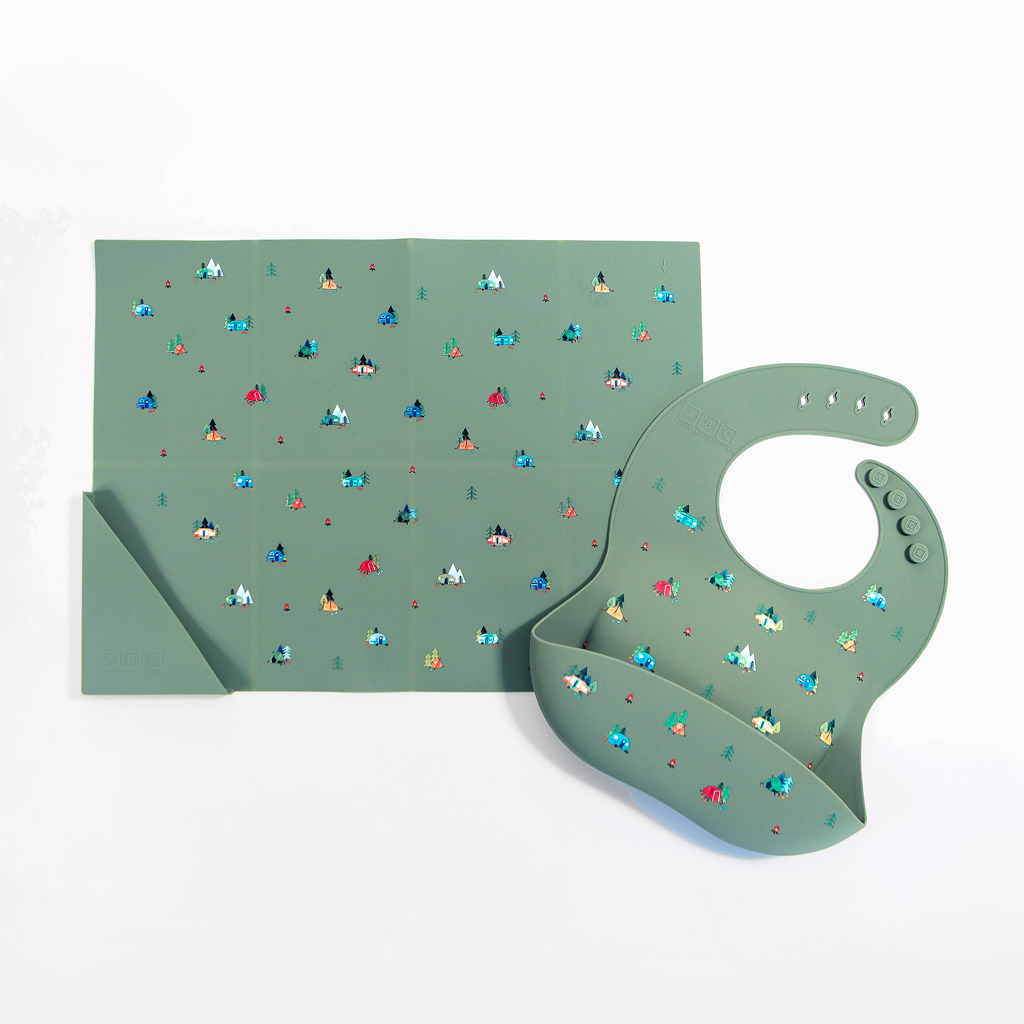 Silicone Placemat Camper Sage Green (SOLD OUT)