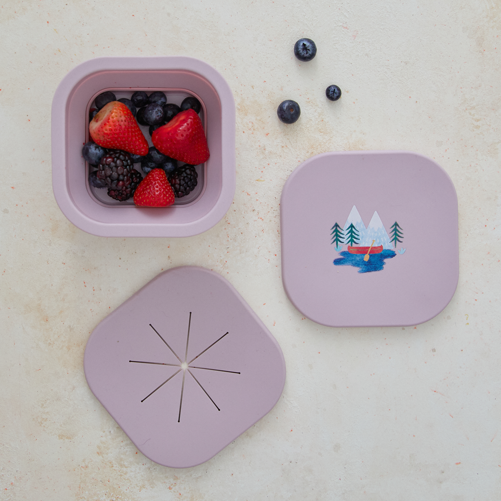 Silicone Collapsible Snack Bowl Camper Violet