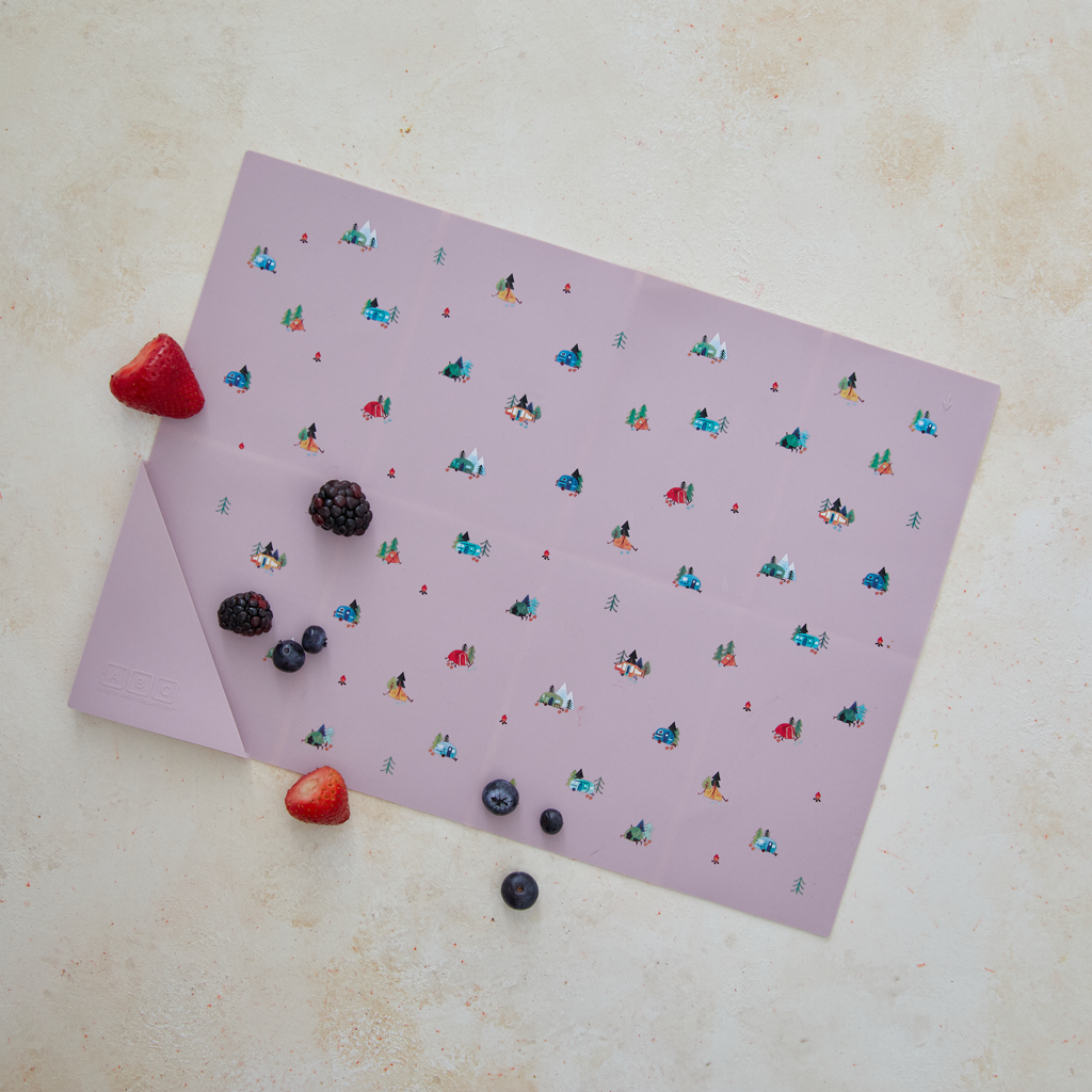 Silicone Placemat Camper Violet