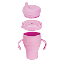 Load image into Gallery viewer, Silicone Collapsible Cup & 2 Lids - Soft Pink