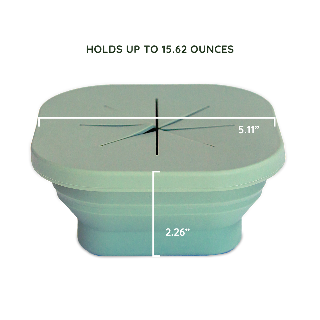 Silicone Collapsible Snack Bowl Camper Sage Green
