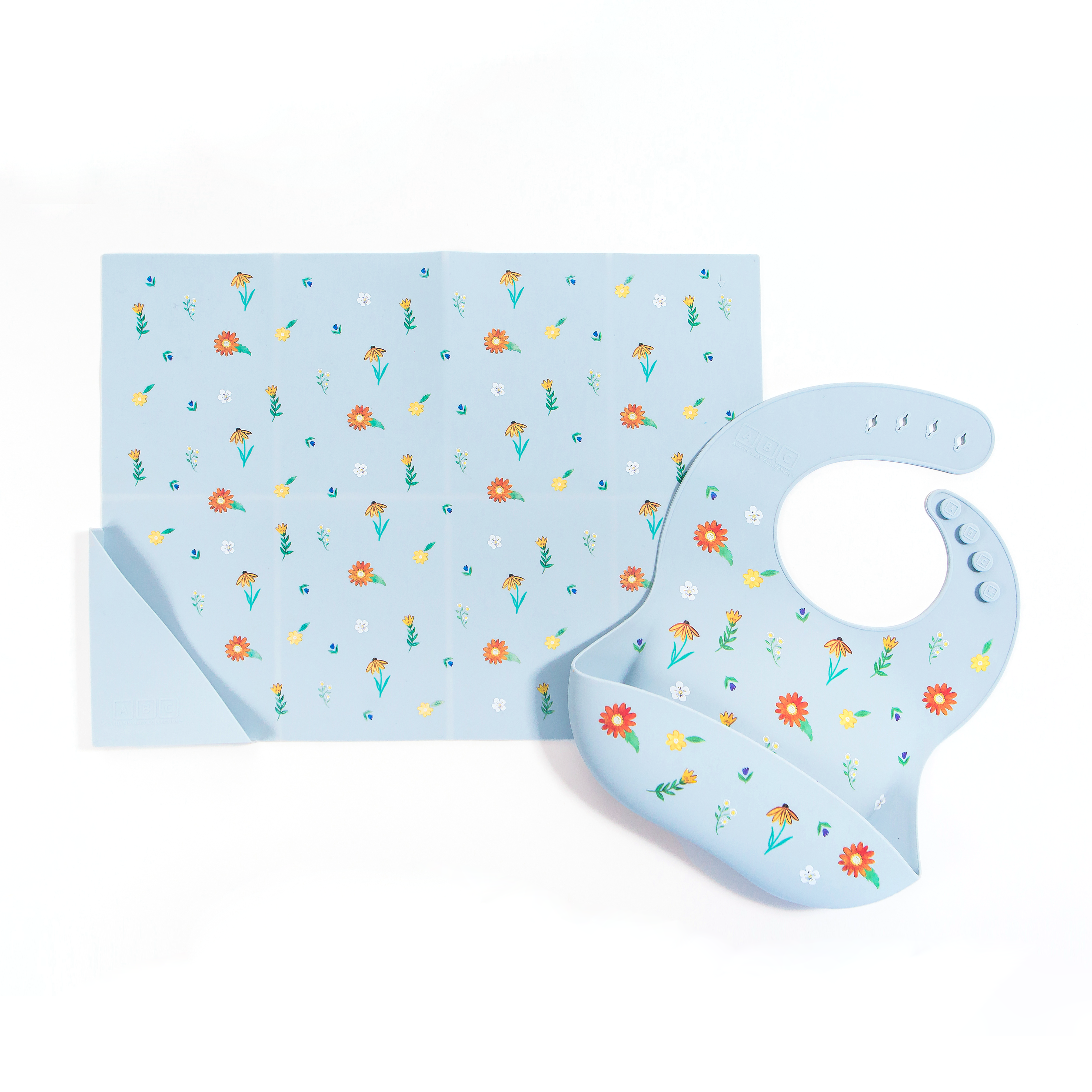 Silicone Placemat Wildflower Chambray Blue