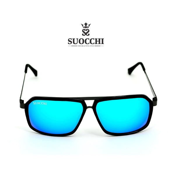 SUOCCHI Hexagon Black And Aqua Blue Edition