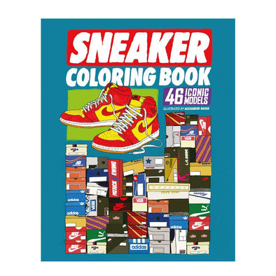 Sneaker Coloring Book Urban Media - Crack Kids Lisboa