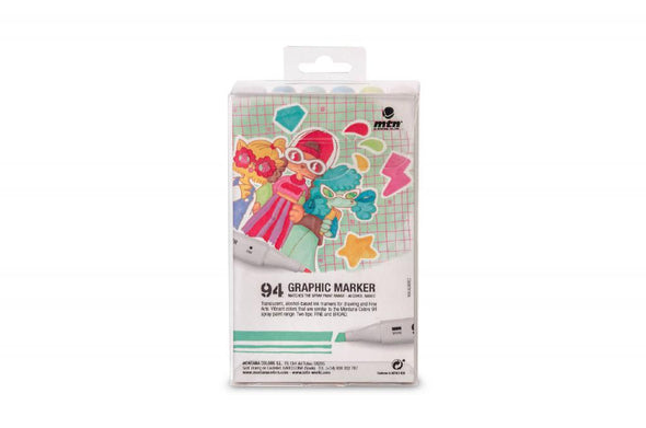 MTN 94 Graphic Marker Pastel 12 Pack - Crack Kids Lisboa