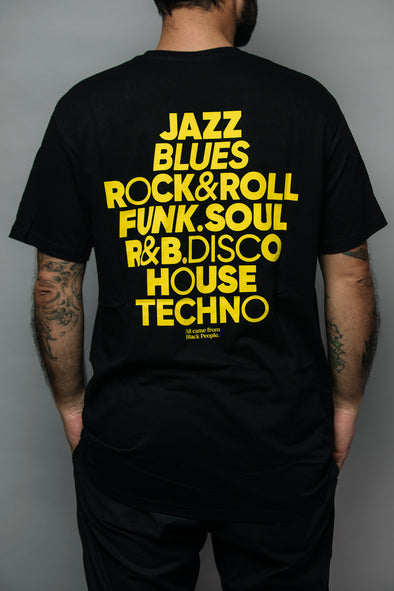 Tshirt Crack Records - All Black - Crack Kids Lisboa